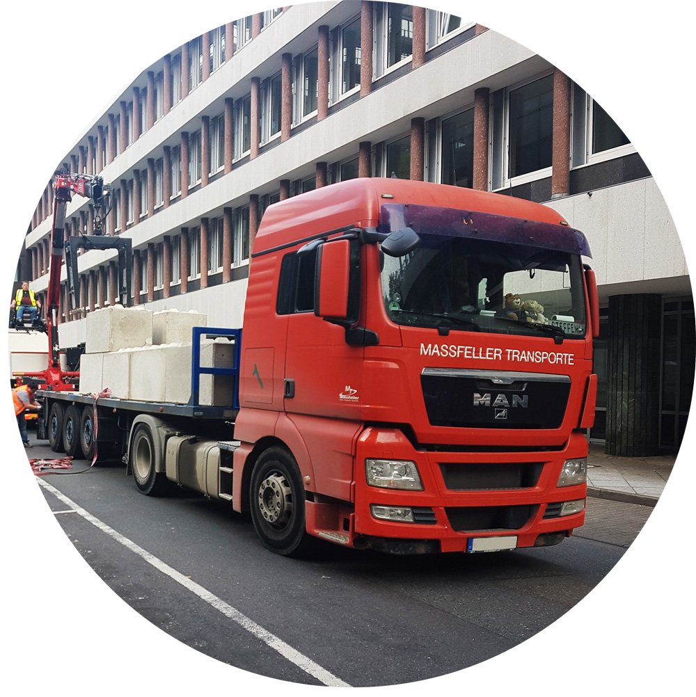 Massfeller Transporte Aufbau